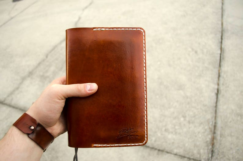 JW Jehovahs Witness Handmade Leather Bible Cover Vegetable Tanned Genuine  Leather Handcrafted Mens Womens Service Preaching Pioneer