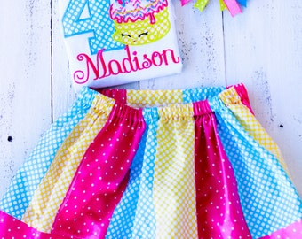 Shopkins Inspired Cake Birthday Outfit Personalized