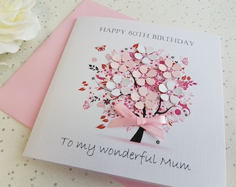 Personalised Birthday Card Handmade Mother 18th 20th 21st 30th 40th 50th 60th 70th 80th 90th Grandmother Mum Sister Aunt Daughter Friend