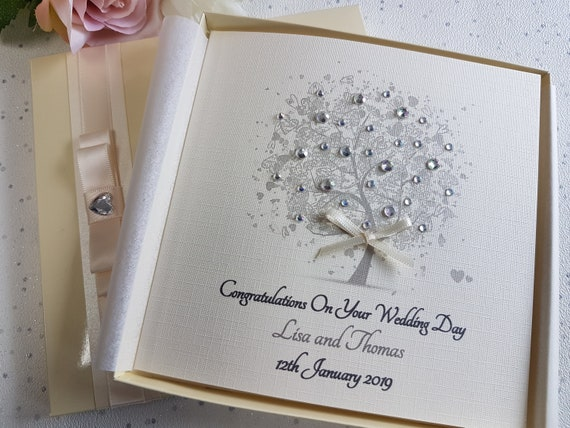 Wedding Day Card Box Son//Daughter//Sister//Brother//Niece//Friends Personalised