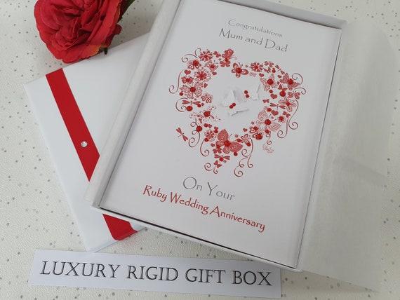 Handmade Personalised Birthday Card,Engagement,40th Anniversary Wedding Day Box