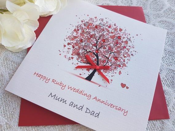 handmade wedding anniversary card ideas for parents
