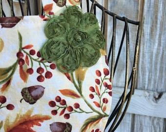 Fall Leaves w/ Vintage Rose Apron