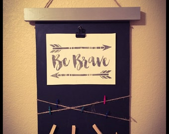 Chalk Board Picture Hanger