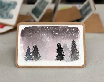 Winter Wonderland Watercolor Cards