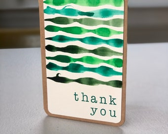 """4x6"""" Watercolor Thank You Card"""