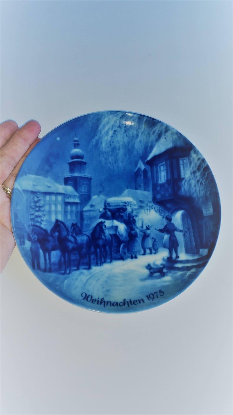 West Germany Vintage Berlin Design Christmas In Dortmund 1975 Collectors Plate