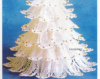pineapple christmas tree herrschners crochet pattern instructions 99 7944