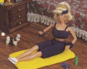 Exercise Time, Annie 39 s Attic Fashion Doll Crochet Pattern Club Leaflet FC23-04