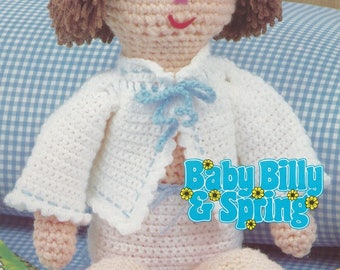 Baby Billy Doll, Annie's Attic Crochet Pattern Leaflet 87B20 Baby Billy & Spring Series