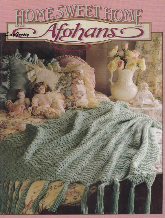 Home Sweet Home Afghans Leisure Arts Crochet Pattern Booklet Etsy