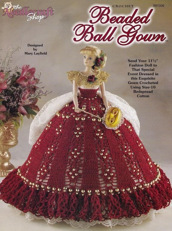 Perlen Ballkleid Mode Puppenkleider häkeln Muster Booklet | Etsy