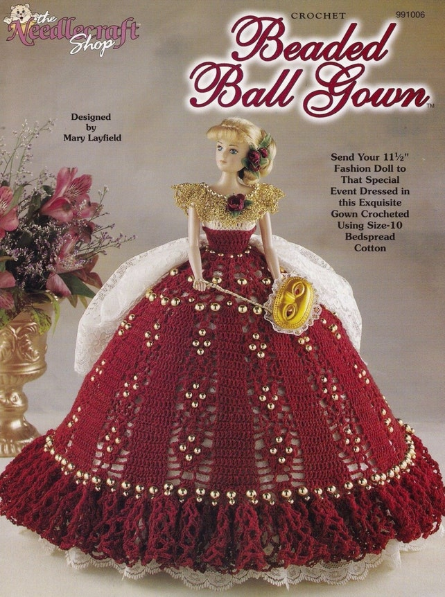 Perlen Ballkleid Mode Puppenkleider häkeln Muster Booklet   Etsy