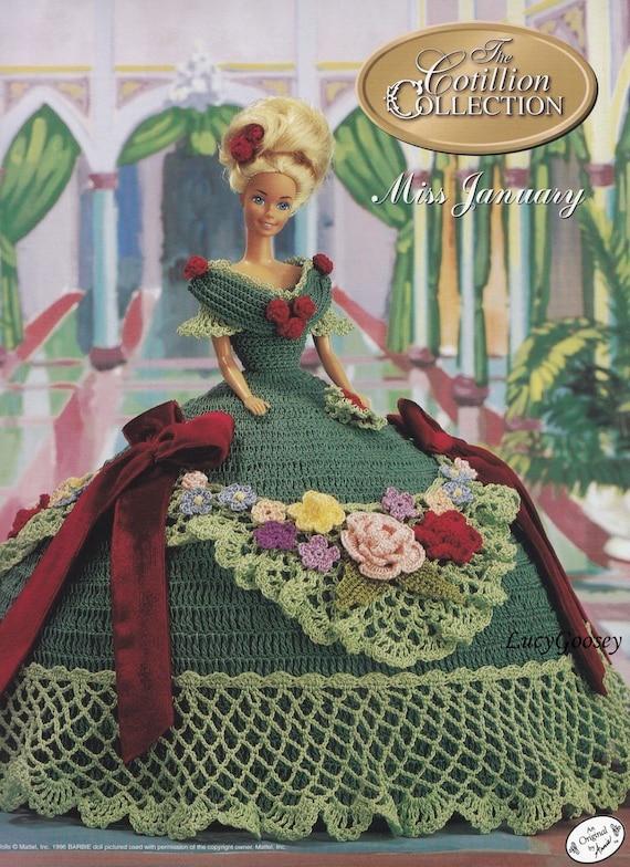 Miss de enero de 1993 Centenario Barbie Muñeca Traje Annie/'s Crochet Patrón