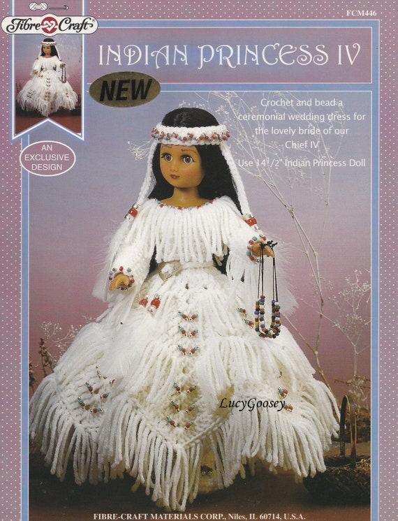 Indian Princess Iv Fibre Craft Crochet Doll Clothes Pattern Etsy