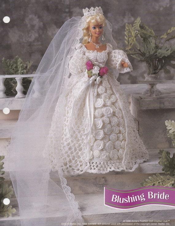 Errötende Braut Annies Attic Mode Puppe Hochzeit Kleid häkeln | Etsy