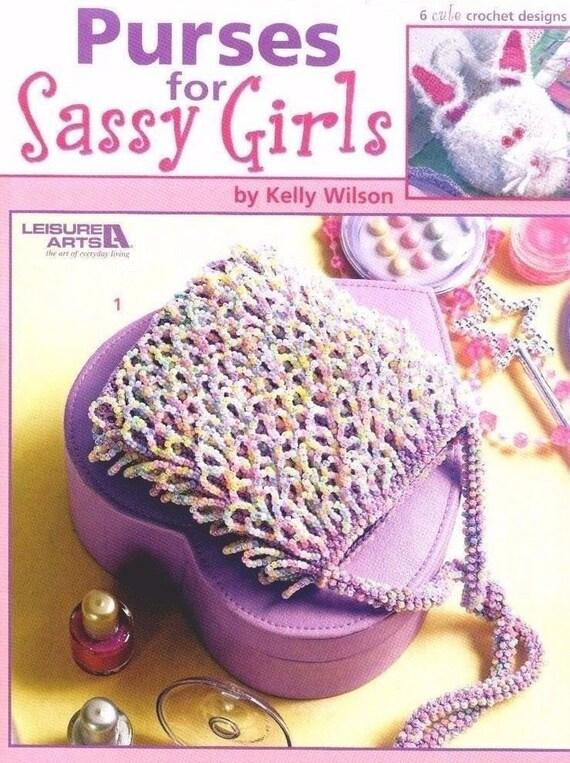 Carteras para niñas Sassy ocio artes Crochet patrón folleto