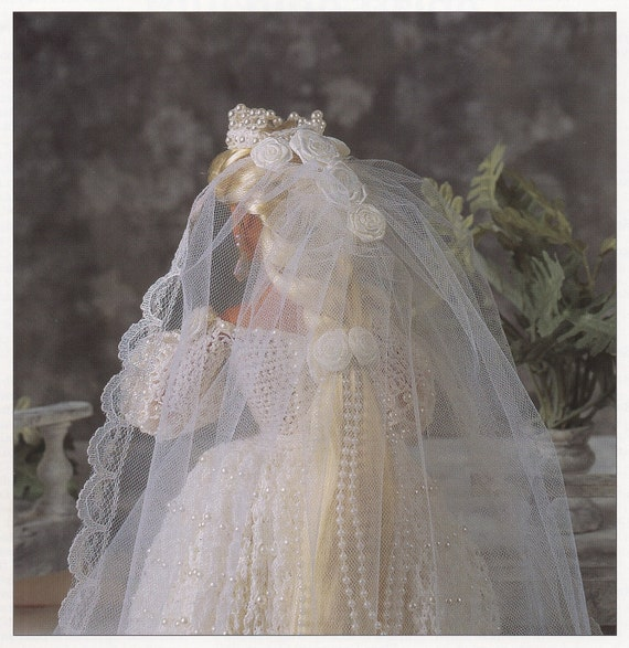 Errötende Braut Annies Attic Mode Puppe Hochzeit Kleid häkeln   Etsy