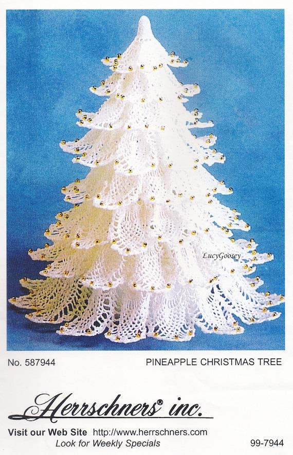 Pineapple Christmas Tree Herrschners Crochet Pattern | Etsy