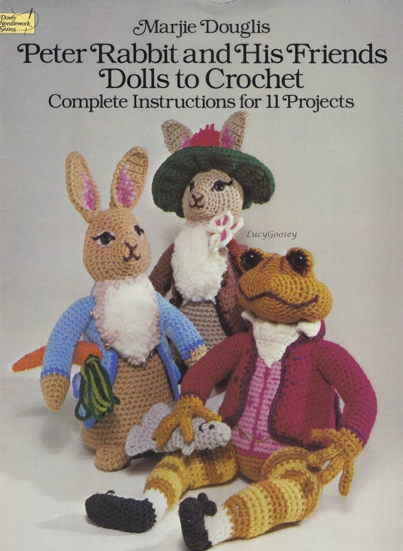 Crochet bunny pattern Holiday Bunnies  Annie Potter pattern