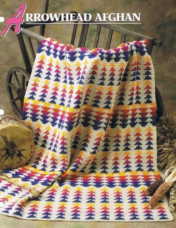 Afgano de punta de flecha Attic Crochet tejido de Annie y   Etsy