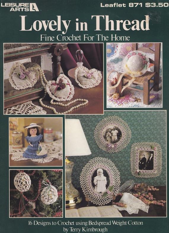 Hermosa en hilo ocio artes Crochet patrón folleto 871 por | Etsy