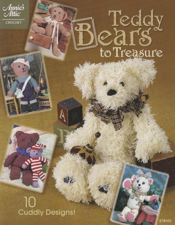 Teddy Bears To Treasure Annies Attic Crochet Pattern Etsy