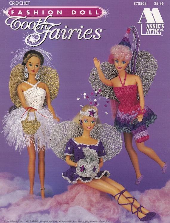 Clown Costume fits Barbie Doll NEW Annie/'s Crochet PATTERN Leaflet
