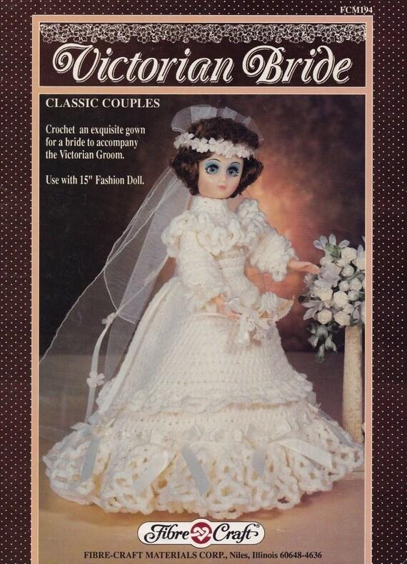 Victorian Bride Fibre Craft Crochet Doll Clothes Pattern Etsy