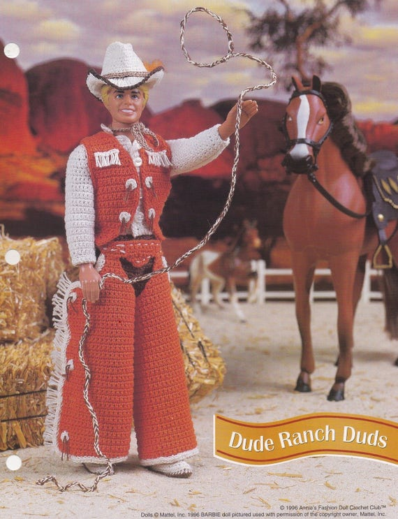 Geck Ranch Blindgänger Annie Attic Mode Puppe häkeln Muster