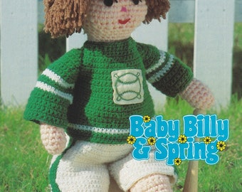 Billy's Baseball Suit, Annie's Attic Crochet Pattern Leaflet 87B29 Baby Billy and Spring Series