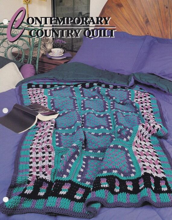Moderne Land-Steppdecke Annie Attic afghanischen & Quilt | Etsy