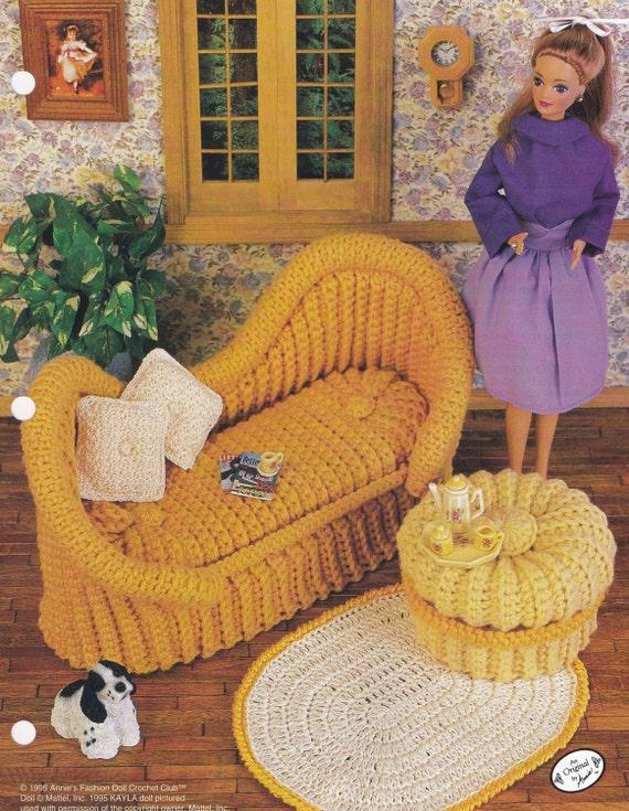 Französische Sofa Annies Fashion Doll Möbel häkeln Muster   Etsy