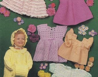 Little Miss Wardrobe, Annie's Attic Pattern Booklet 87H31 Girl Sizes 1-3 RARE