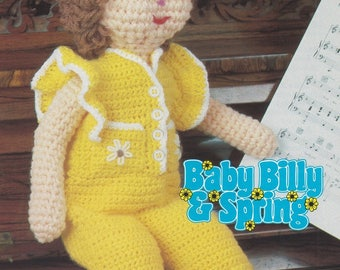 Spring's Romper Suit, Annie's Attic Crochet Pattern Leaflet 87B25 Baby Billy and Spring Series