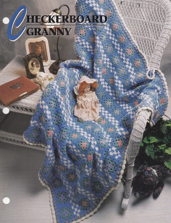 Granny Square Afghan Annie/'s crochet pattern leaflet