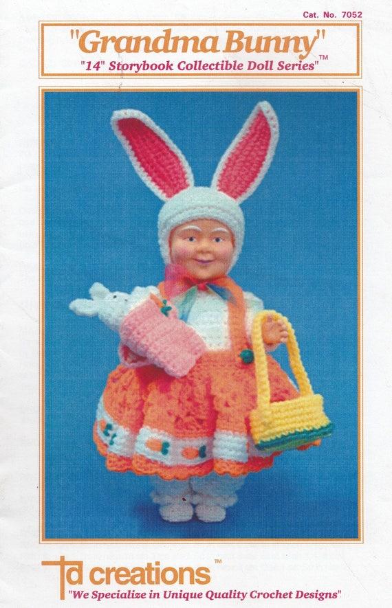 Oma Osterhase Td Kreationen häkeln Puppe Kleidung Muster | Etsy