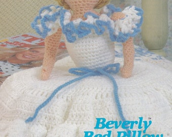 Beverly Bed Pillow, Annie's Attic Darling Daughters Crochet Pattern Club Leaflet 87W05