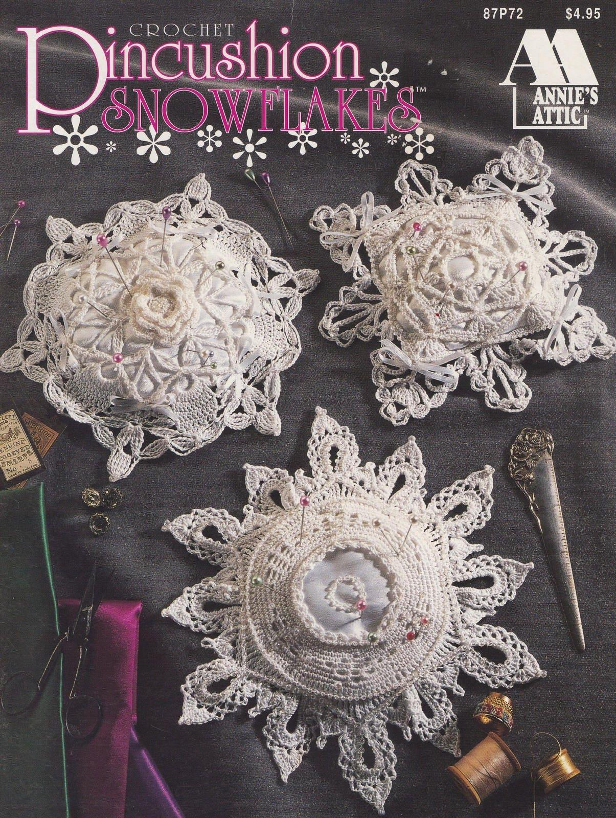 Nadelkissen Schneeflocken Annie Attic Crochet Pattern