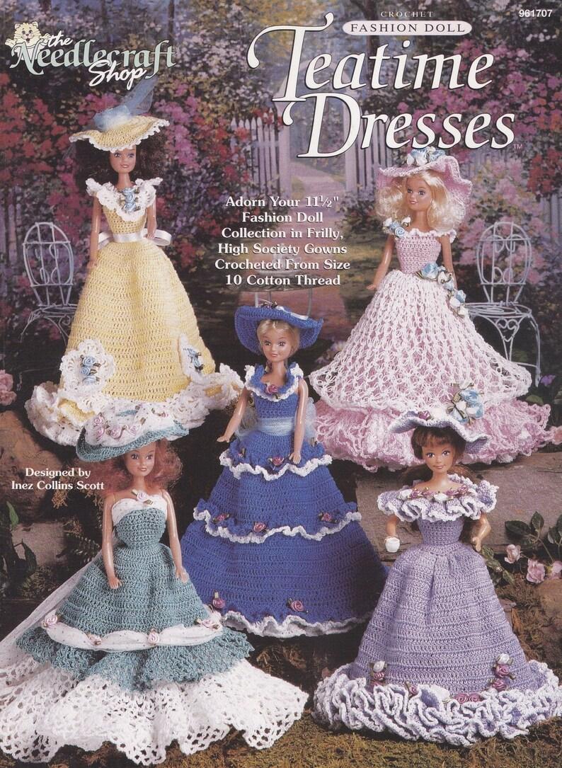 dc20e17bbd669 Teatime Dresses, The Needlecraft Shop Crochet Fashion Doll Clothes Pattern  Booklet 961707 RARE