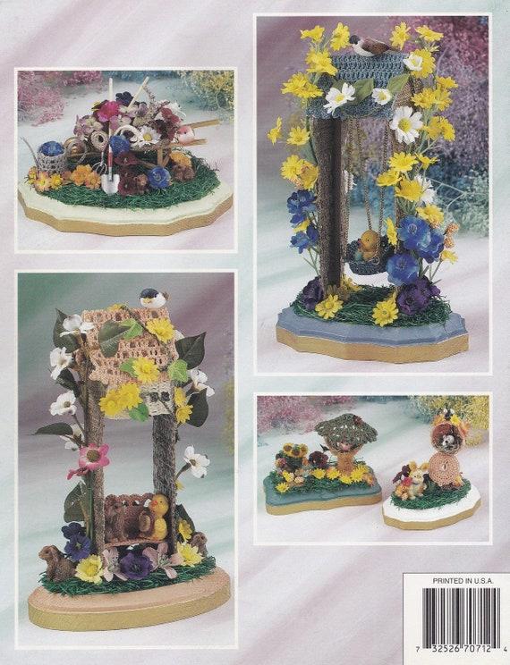 Frühling-Plaques Annie Attic häkeln Muster Booklet 870712