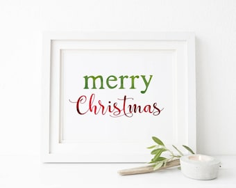 Christmas Printable / Christmas Decor / Christmas Print / Christmas Wall Art / Merry Christmas / Holiday Printable / Christmas Decoration