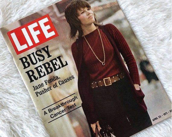 Jane Fonda 1971 authentic vintage * RARE* LIFE magazine