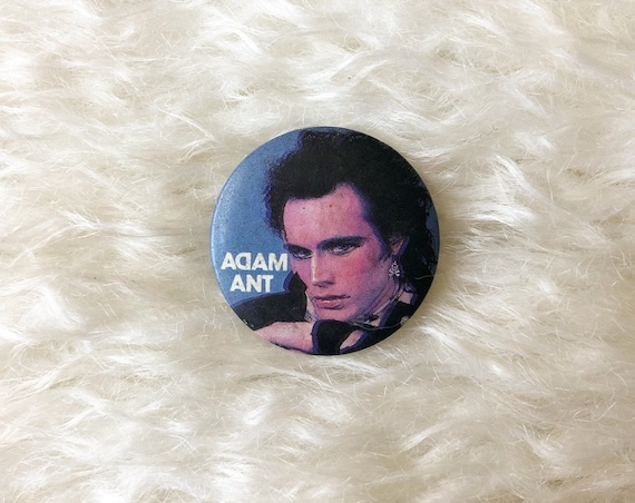 1980s authentic vintage Adam Ant round closed pinback small retro punk new wave button