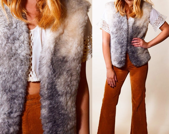 Authentic vintage 1970s  rare  fur traders Janis Joplin style lined vest women's size medium