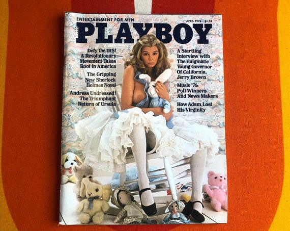 Authentic vintage 1976 Pretty Baby Playboy Magazine with Jerry Brown interview