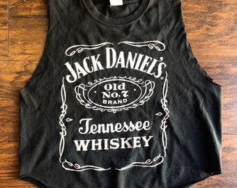 f5c75fc90c7fda Jack Daniel s old No. 7 Brand Tennessee Whiskey classic graphic logo  distressed muscle tank top women s size M L