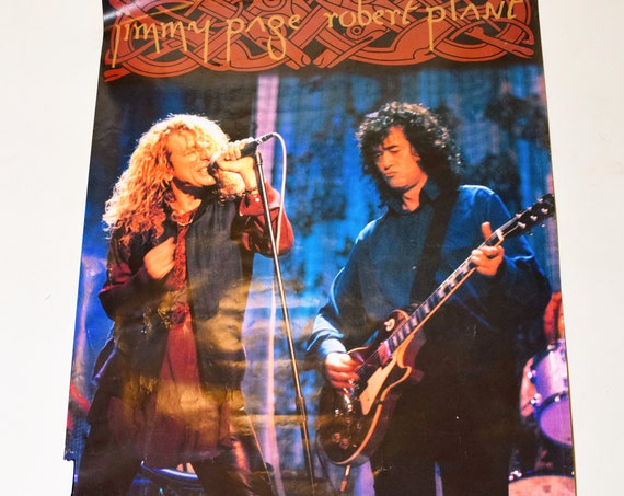 Vintage Jimmy Page + Robert Plant ZOSO Led Zeppelin Winterland productions SF collectible poster