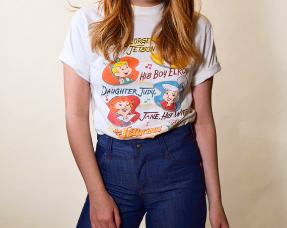 Rare 1980s vintage The Jetsons tv show - Hanna Barbara - graphic tee shirt women's size small