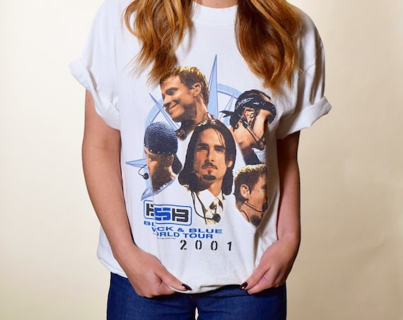 Vintage Backstreet Boys Black and blue tour tee shirt unisex M-L